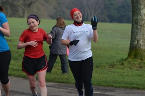 Tamsyn running at parkrun