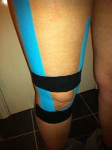 My (fat) leg with kinesio tape