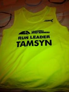 My personalised Run Leader vest