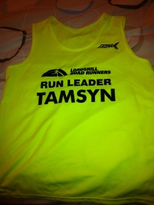 My personalised Run Leader vest