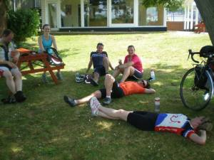 A little rest before teh ferry from Cowes to Portsmouth