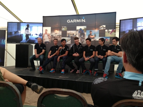 The young riders from Madison Genesis being interviewed