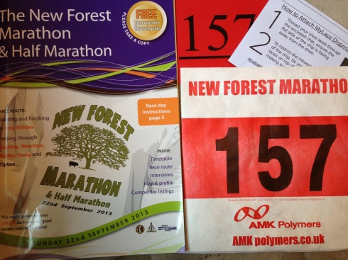 New Forest Marathon number