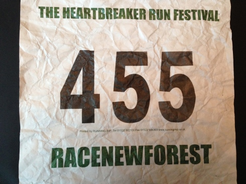 Heartbreak Half race number