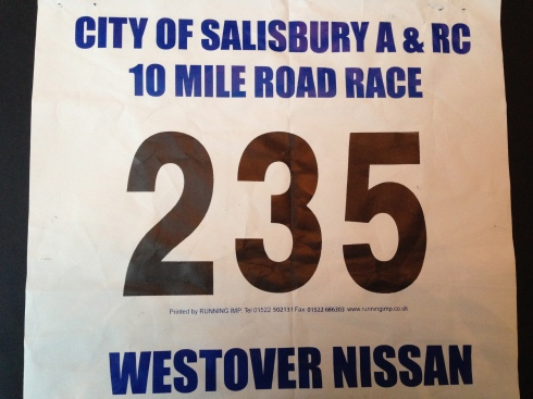 Salisbury 10 mile race number