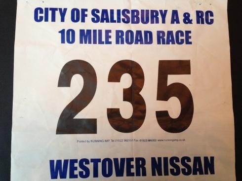 Salisbury 10 mile race number