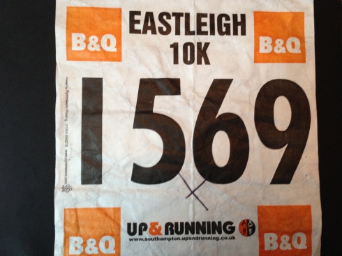 Eastleigh 10k race number 2013