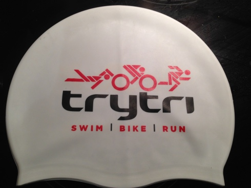 TryTri swimming hat ©Tamsyn Smith
