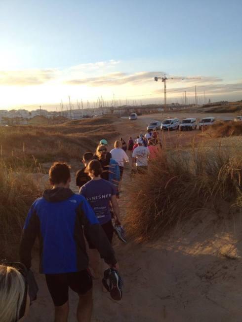 Heading onto the beach