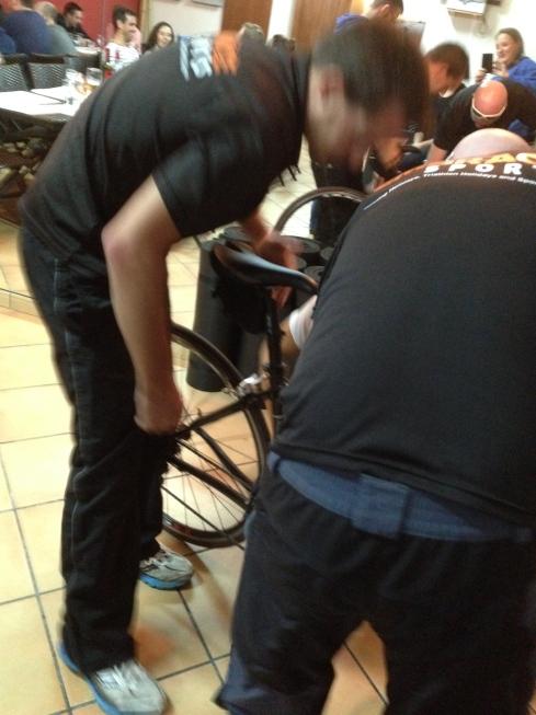 How many Embrace coaches does it take to set a bike up?