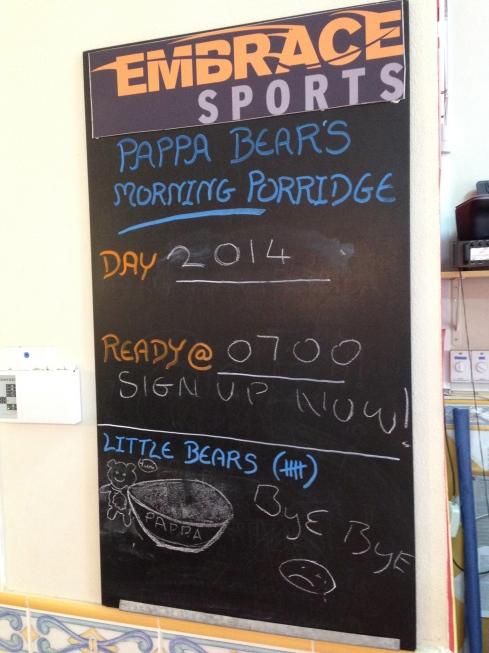 Pappa Bear's porridge