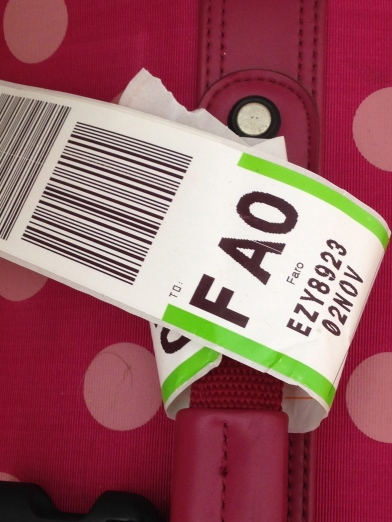 Luggage tag for Faro airport