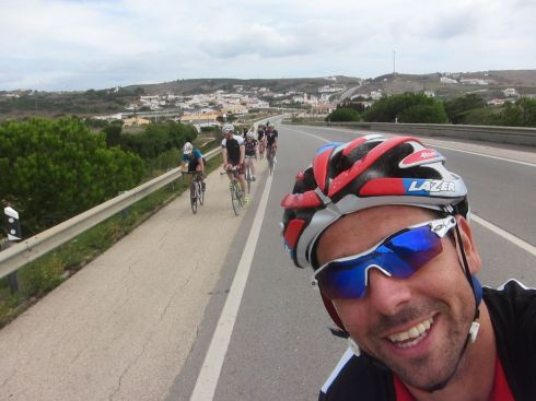 Another selfie from John on the cycle back
