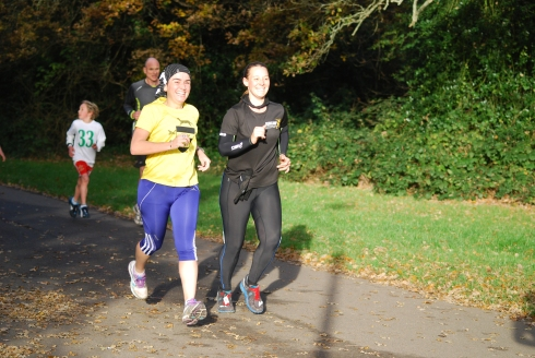 parkrunning with Katherine