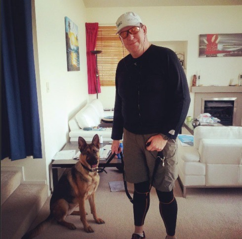 Chris and his canine companion