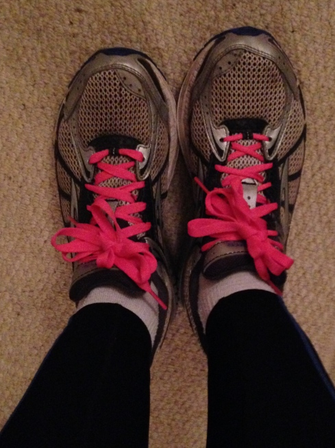 My new SweatPink shoelaces