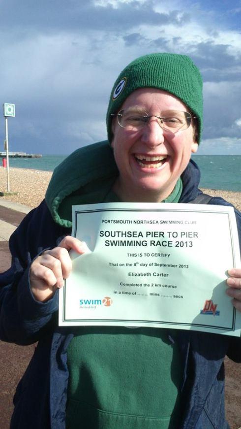 Liz swim