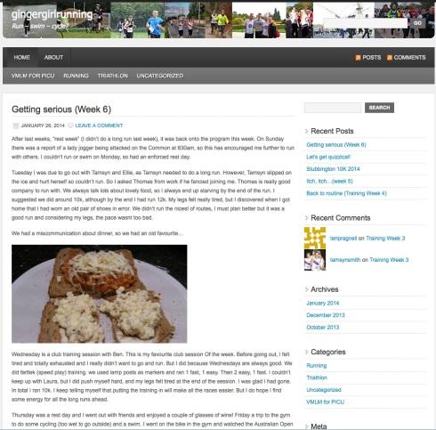 Giner Girl Running website