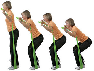 Squat with resistance band