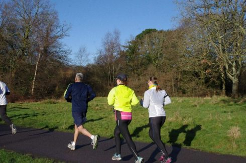 parkrun at the end of a long run with Teri