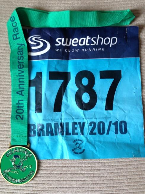 Bramley 20 race medal
