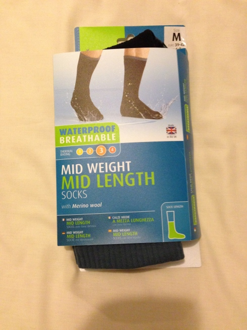 Some fasntastic sealskinz waterproof socks from Brian and Sally