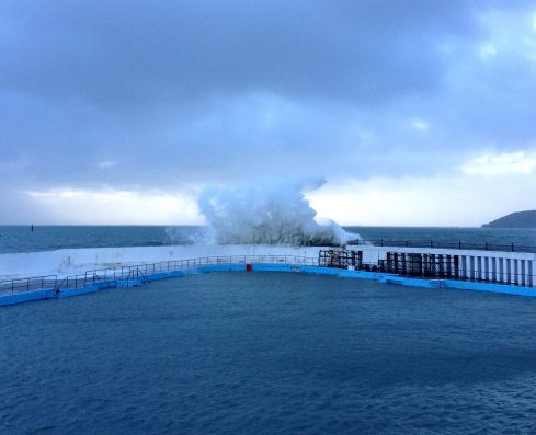 Jubilee pool in storm