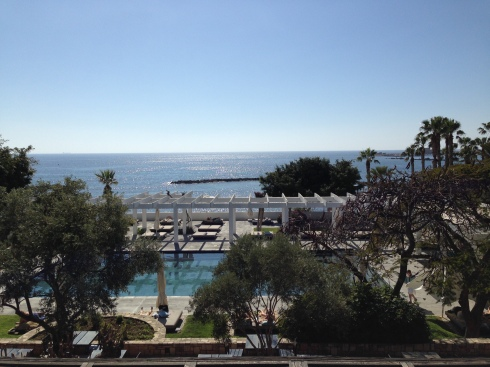 The view from Hotel Almyra (Paphos)
