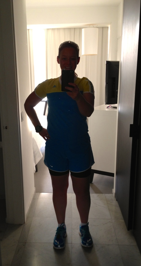 Selfie before my first run in Paphos