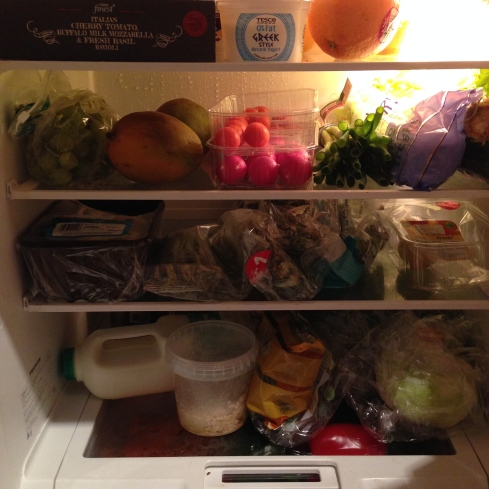 Fresh - the lovely healthy food in my fridge