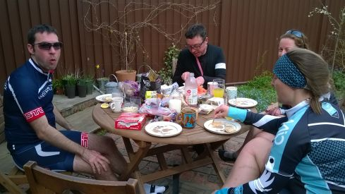 post ride snack stop