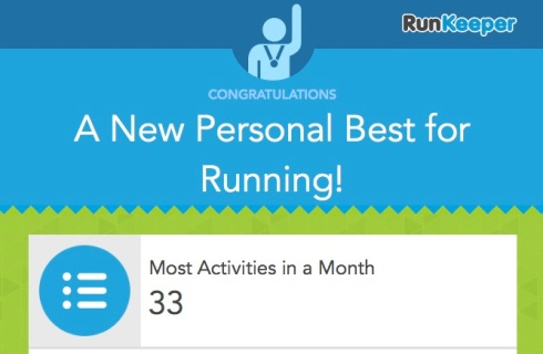 New PB for running