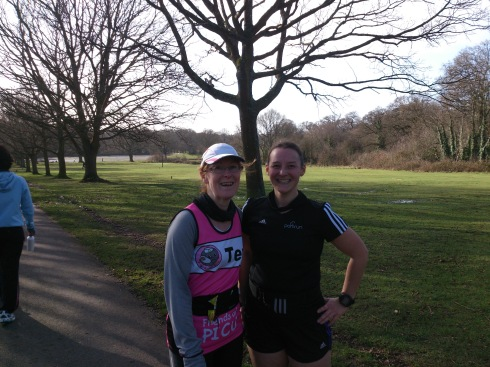 Teri and I after parkrun