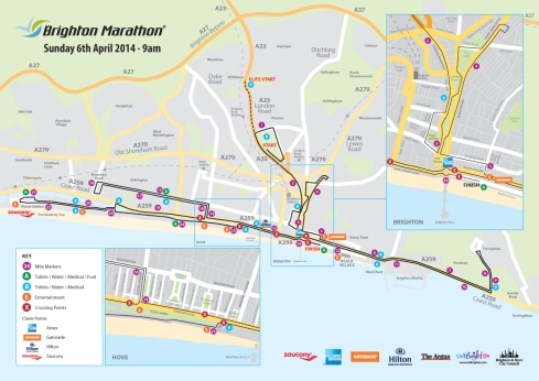 Brighton Marathon Map