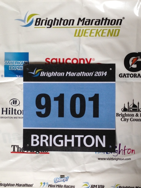 Brighton Marathon number