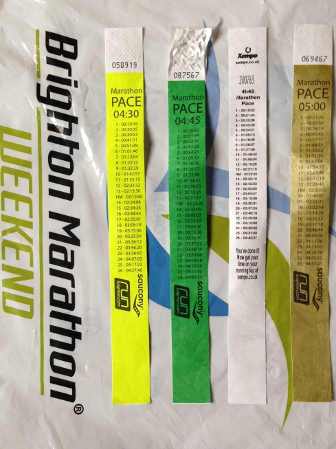 A selection of pacing bands