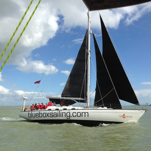 The match race meant that we ended up sailing fairly close together (although obviously in a controlled and safe way!)