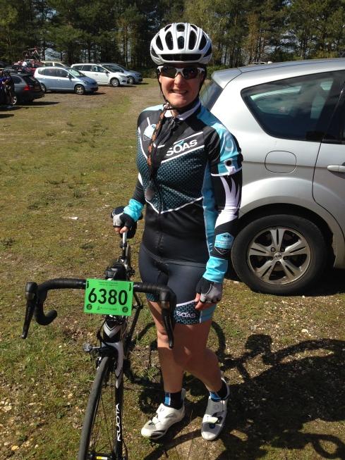 Finish pose with bike