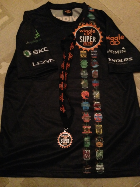 Finishers' t-shirt and medal