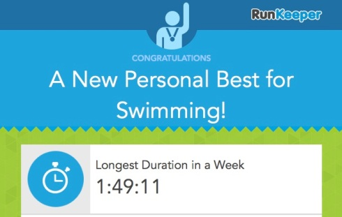 New swimming PB