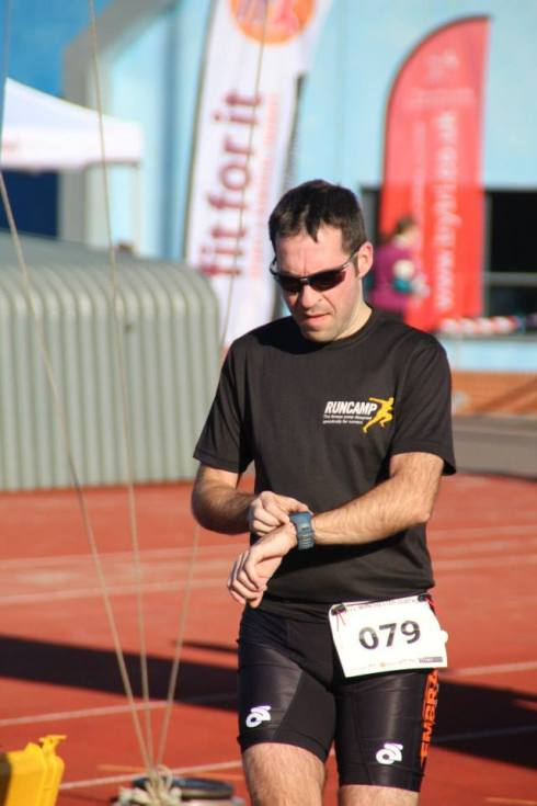 Stuart finishing Winchester Duathlon