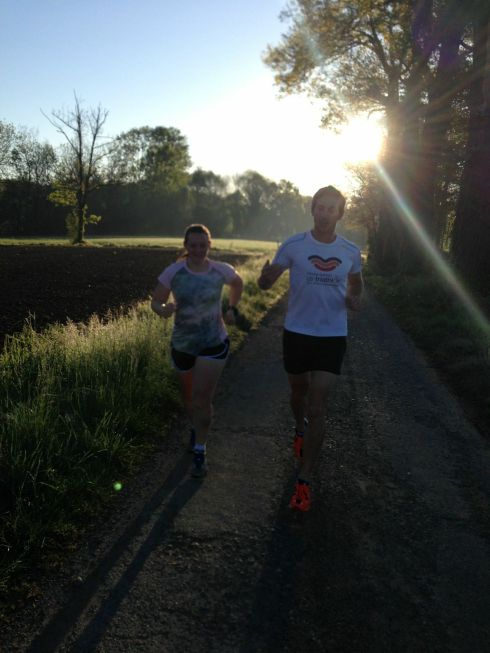Early morning run with Graeme