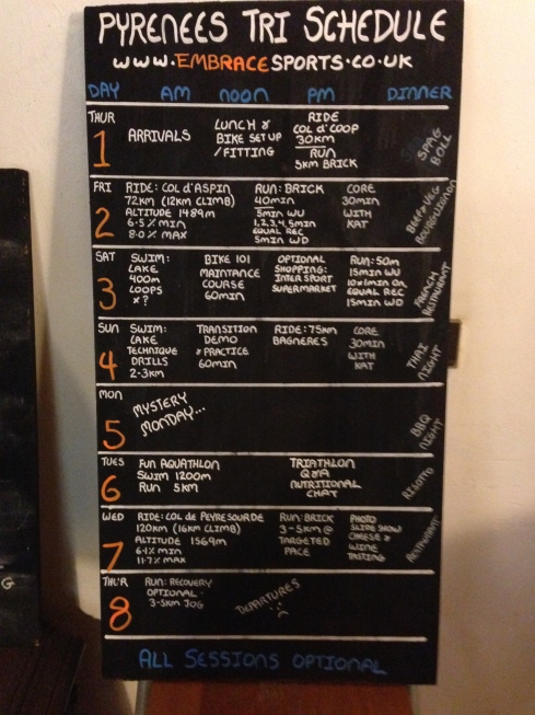 Pyrenees Tri Schedule