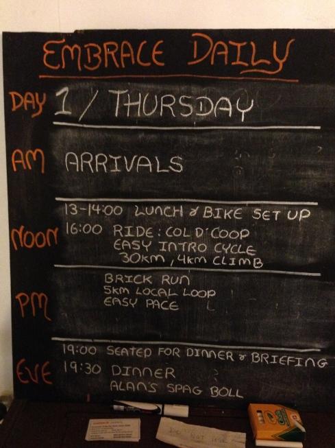 Embrace plan for Thursday