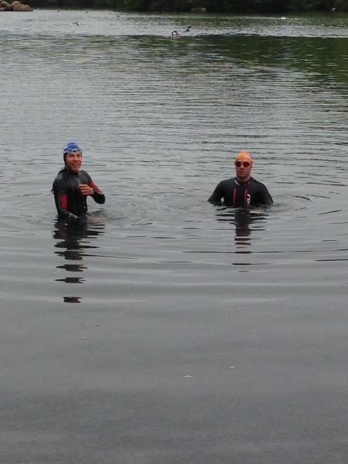 Alan and Stu at the lake