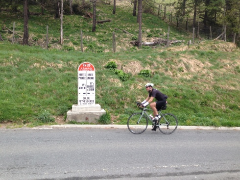 Stuart completing the climb