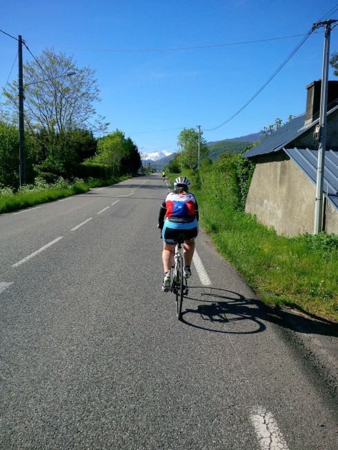 Rear view on the way to Aspin