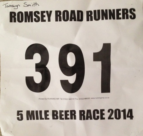 Beer race number