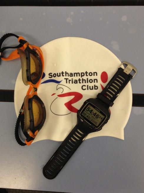 Tri club swim hat montage