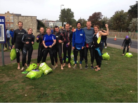 Pre Weymouth swim group photo
